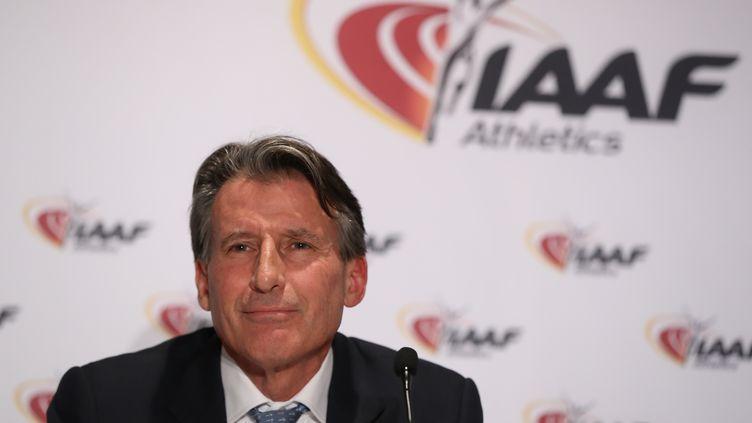 Sebastian Coe, président de l'IAAF (VALERY HACHE / AFP)