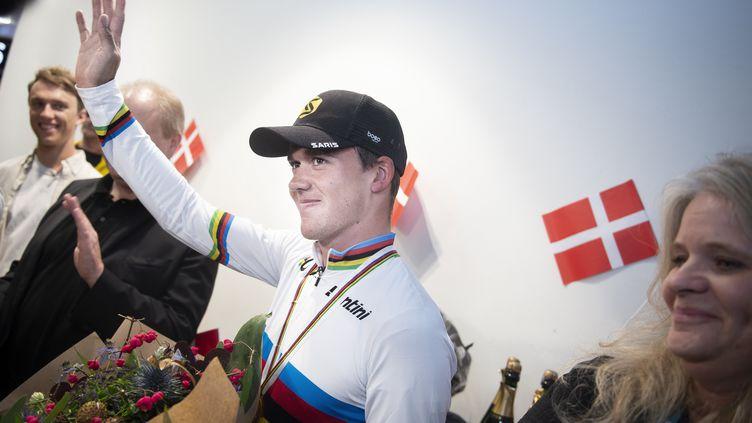 Champion du monde l'an passé, Mads Pedersen ne défendra pas son titre à Aigle-Martigny cette année. (LISELOTTE SABROE / RITZAU SCANPIX)