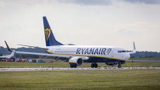 Un avion de la compagnie Ryanair, à Leeds en Angleterre, le 10 août 2018. (ANDREW MCCAREN/LNP / MAXPPP)