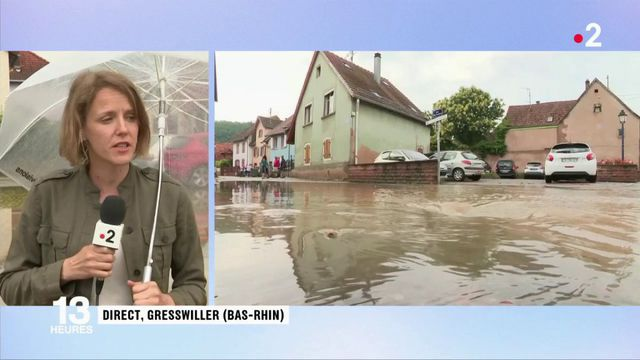 Bas-Rhin : la commune de Gresswiller sous les eaux