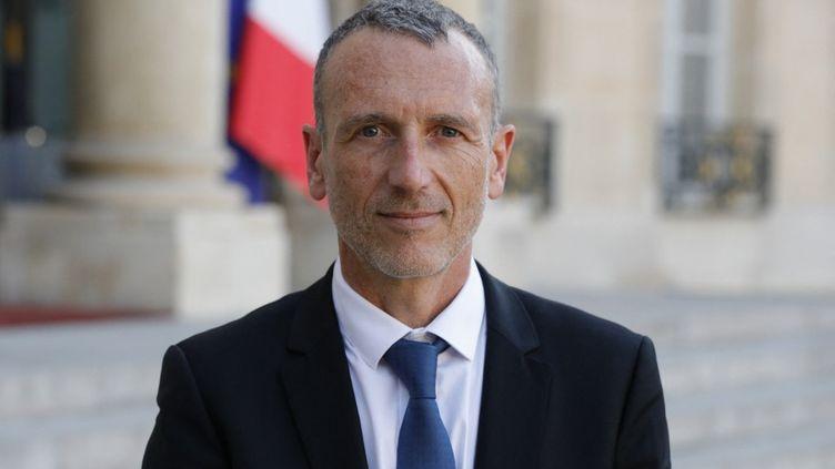 Emmanuel Faber, à l'Elysée, le 23 août 2019. (GEOFFROY VAN DER HASSELT / AFP)