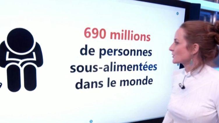 La journaliste Claire Giroud à propos de la faim dans le monde (FRANCEINFO)
