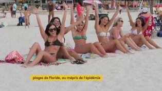 Des Américaines sur une plage de Floride (FRANCEINFO)