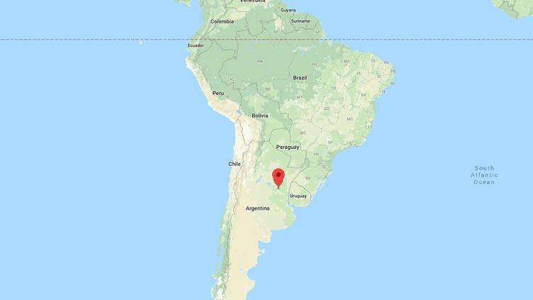 Capture d'écran de Google maps pointant la ville deParaná, à 600 km au nord de Buenos Aires, la capitale argentine, où un curé a été condamné à 25 ans de prison pour avoir abusé d'enfants. (Google maps)