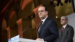 François Hollande le 19 janvier à l'occasion du 70e anniversaire de l'Agence France-Presse à Paris (STEPHANE DE SAKUTIN / AFP)