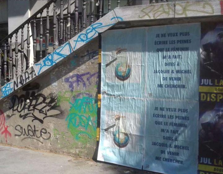 """Une mystérieuse affiche annonçant dans une rue de Paris le retour de Julien Doré avec le single """"La Fièvre"""", jeudi 25 juin 2020. (COLUMBIA / SONY)"""