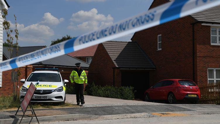 Après l'empoisonnement de l'ex-espion russeSergueï Skripal,un second empoisonnement au Novitchok a eu lieu à Amesbury, en Angleterre, le 5 juillet 2018. (CHRIS J RATCLIFFE / AFP)
