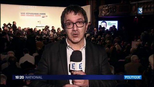 Primaires de la gauche : meeting de Manuel Valls à Paris