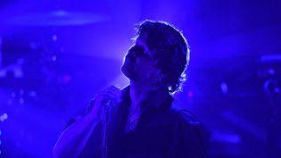 Bertrand Cantat lors de son concert à la Rochelle (Charente-Maritime), le 1er mars 2018. (XAVIER LEOTY / AFP)