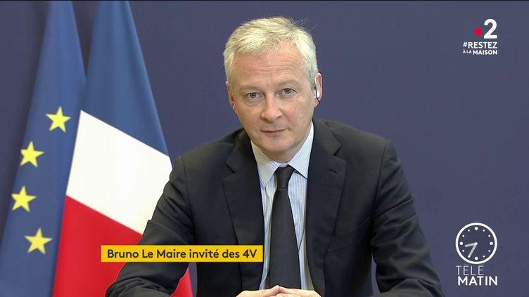 Le ministre de l'Économie et des Finances prône la mise en place d'un fonds de solidarité européen pour répondre à cette crise qui menace l'économie des 27. (FRANCE 2)