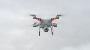 Un drone quadrimoteur photographié le 14 février 2014 en Allemagne. (FELIX HÖRHAGER / DPA / AFP)