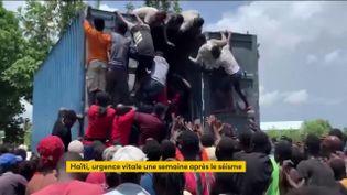 Les Haïtiens crient famine après le séisme (FRANCEINFO)