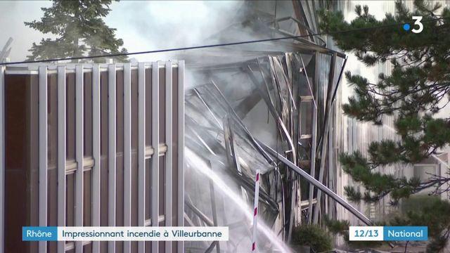 Rhône : une ancienne usine reconvertie en bureaux part en fumée