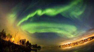 Des aurores boréales au-dessus deRovaniemi (Finlande), octobre 2016 (ALL ABOUT LAPLAND)