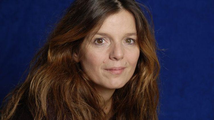 La romancière Maylis de Kerangal en 2012 à Paris. (ULF ANDERSEN / AURIMAGES / ULF ANDERSEN)