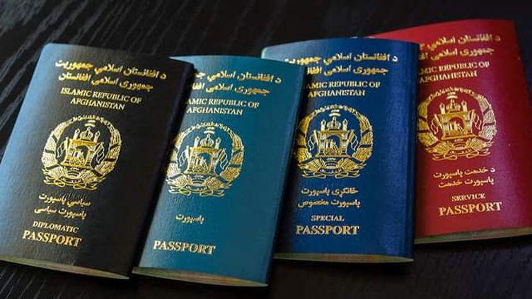 Les nouveaux passeports délivrés par les autorités afghanes, le 5 octobre 2021. (EYEPRESS NEWS / AFP)