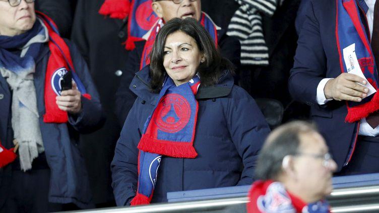 La maire de Paris Anne Hidalgo dans les tribunes du Parc des Princes en mars 2018. (LP/OLIVIER ARANDEL / MAXPPP)