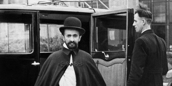 Photo prise en 1936 à Londres de l'empereur éthiopien Haile Selassie (1892-1975), dernier empereur d'Ethiopie (1930-1936 et 1941-1974) (AFP)