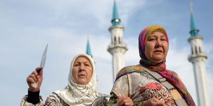 Des musulmanes russes à Kazan (MAKSIM BOGODVID/RIA NOVOSTI/AFP)