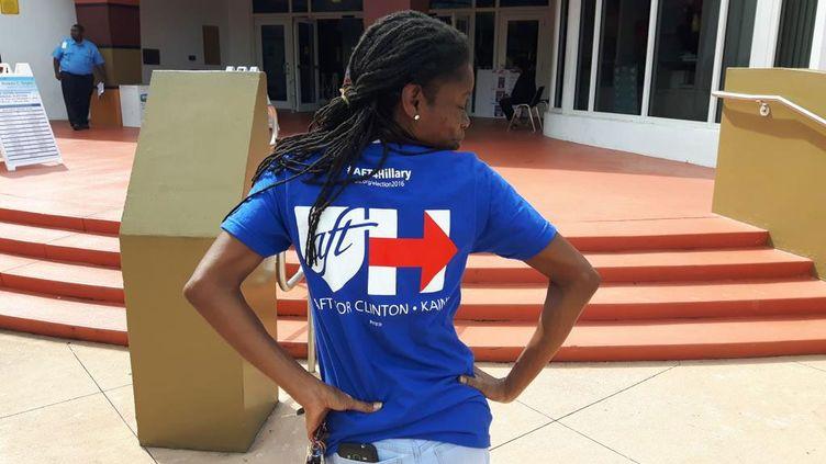 "Le ""early vote"", le vote anticipé a commencé en Floride où Cathy a choisi Hillary Clinton (SANDRINE ETOA-ANDEGUE / RADIO FRANCE)"