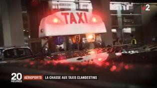 Roissy, taxis illégaux. (FRANCE 2)