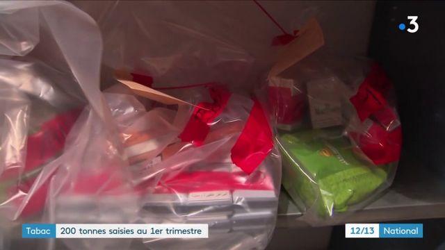 Contrebande : 200 tonnes de tabac saisies depuis janvier