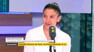 Nadia Benmokhtar, ancienne footballeuse et consultante de franceinfo pendant le Mondial. (FRANCEINFO / RADIOFRANCE)