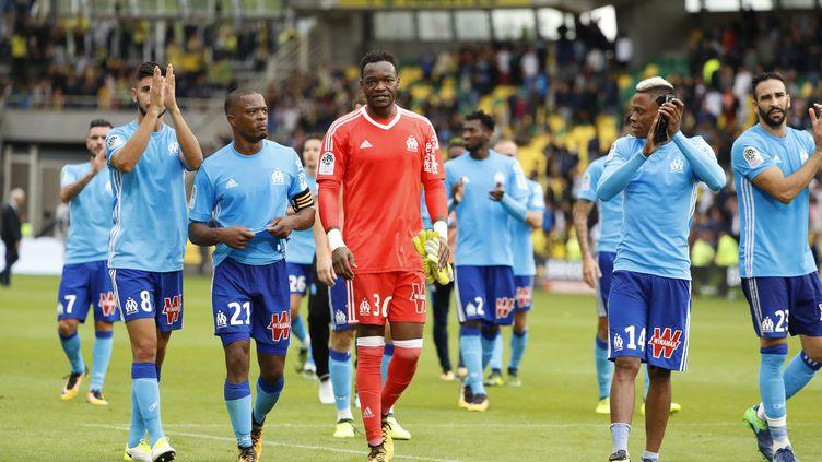 L'OM, victorieux sur le terrain de Nantes (0-1). (STEPHANE ALLAMAN / STEPHANE ALLAMAN)