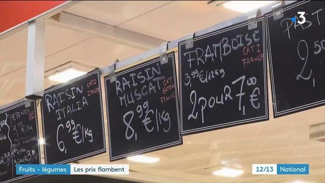 Fruits et légumes : les prix ont fortement augmentés