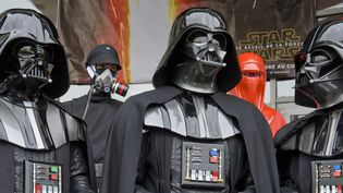 Des participants à la convention Star Wars de Cusset  (Thierry Zoccolan / AFP)