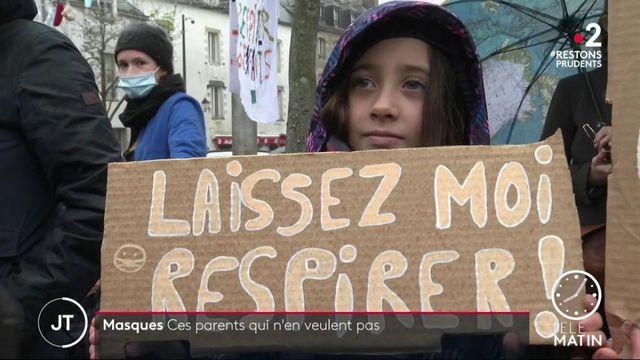 Morbiban: à Vannes, des parents qui ne veulent pas du masque pour leurs enfants