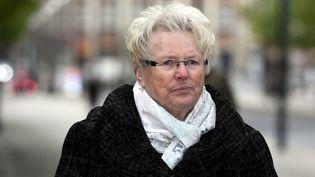 Chantal Beining en avril 2017 avant l'ouverture du procès de Francis Heaulme devant la cour d'assises de Moselle. (ALEXANDRE MARCHI / MAXPPP)