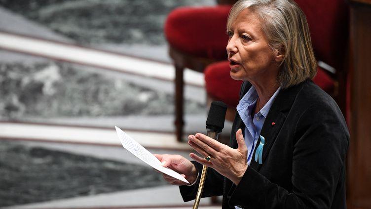 La secrétaire d'État chargée des personnes handicapées Sophie Cluzel lors d'une séance de questions au gouvernement à l'Assemblée nationale, à Paris, le 2 avril 2019. Photo d'illustration. (ALAIN JOCARD / AFP)