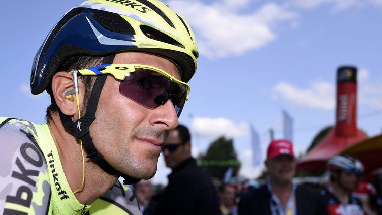 L'Italien Ivan Basso sur le Tour de France, le 9 juillet 2015, à Abbeville (Somme). (  MAXPPP)