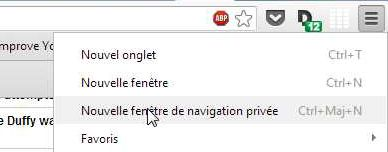 (CAPTURE D'ECRAN CHROME)