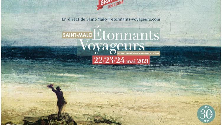 L'affiche de l'édition 2021 du festival Étonnants Voyageurs (ETONNANTS VOYAGEURS)