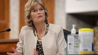 Lisa Murkowski, sénatrice républicaine d'Alaska,le 30 juin 2020, à Washington (Etats-Unis). (KEVIN DIETSCH / AFP)