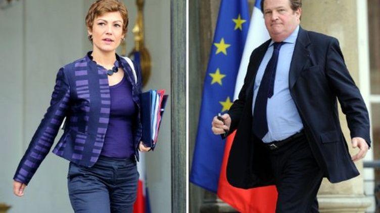 Chantal Jouano (15/9/10) et Pierre Charon (le 18/2/09) (AFP/ERIC FEFERBERG)