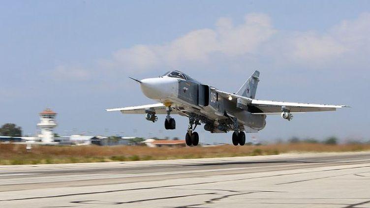 Sukhoi 24 russe en Syrie. C'est un appareil de ce type qui a été abattu par l'armée turque.