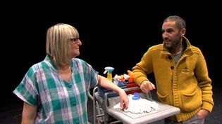 Corinne Dadat et Mohamed El Khatib. (Capture d'écran reportage France 3 - Basse Normandie)