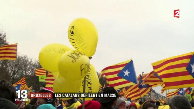 Les Catalans manifestent à Bruxelles