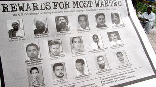 Un extrait de la liste des terroristes les plus recherchés par le FBI, sur laquelle apparaît Abou Anas al-Libi (en bas, 2e à gauche). ( REUTERS)