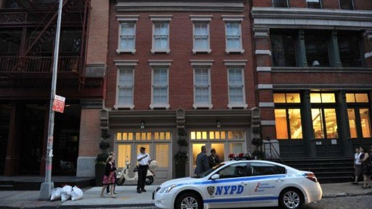 L'immeuble du quartier de Tribeca, à Manhattan, où Dominique Strauss-Kahn s'est installé au soir du 25 mai (AFP / Stan Honda)