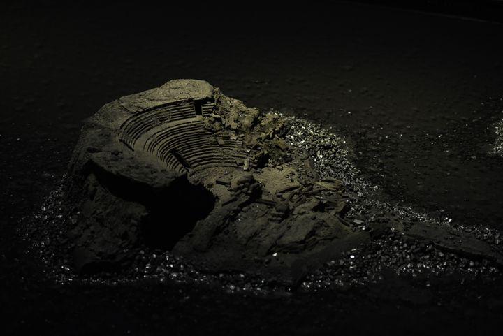 Construction IV (détail), 1977, charbon de bois, fusain, eau et huile, 17 x 6 m. FRAC Bretagne, Rennes.  (Charlotte Piérot © Saint-Etienne Métropole - ADAGP, Paris 2016)