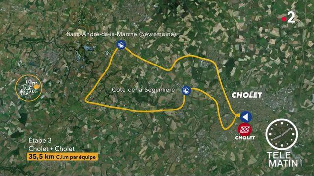 Tour de France : le contre-la-montre par équipe au programme de la 3e étape
