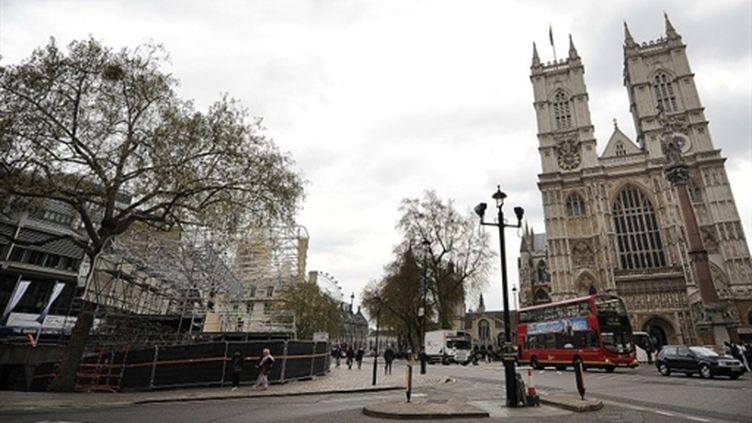 L'entrée de Westminster Abbey au centre de Londres (AFP. Ben Stansall)