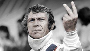 """Steve McQueen sur le tournage du film """"Le Mans""""  (Marco Polo Production)"""