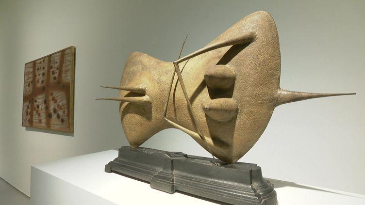 """Dans l'exposition """"Maurice Allemand ou comment l'art moderne vint à Saint Etienne"""" (S. Loeb / France 3 Saint-Etienne)"""