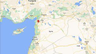 Unefrappeaméricainea été menée contre des responsables d'Al-Qaïdadans le village de Jakara, dans la région d'Idleb (Syrie), le 22 octobre 2020. (GOOGLE MAPS / FRANCEINFO)
