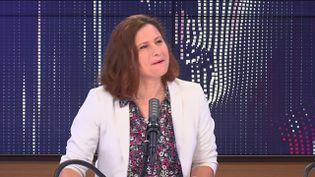 Roxana Maracineanu, ministre déléguée chargée des Sports, le 21 mai sur franceinfo. (FRANCEINFO / RADIO FRANCE)
